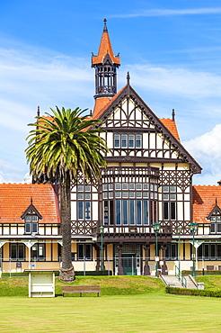Tudor style Rotorua Museum and Government Gardens, Rotorua, North Island, New Zealand, Pacific