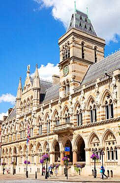 Northampton Guildhall and Northampton Borough Council St Giles' Square town centre Northamptonshire England UK GB Europe