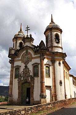 Sao Francisco church built by Aleijadinho and considered his masterpiece, Ouro Preto, UNESCO World Heritage Site, Minas Gerias, Brazil, South America