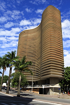 Libertade Square, concrete building built by architect Oscar Niemeyer in 1955, Belo Horizonte, Minas Gerais, Brazil, South America