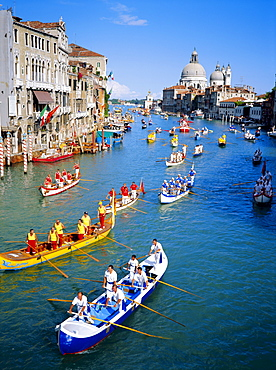 Regatta Storica, parade on Grand Canal, Venice, Veneto, Italy