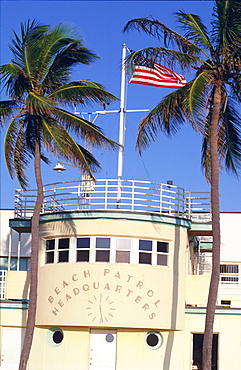 Beach patrol headquarters, Miami Beach (South Beach), Miami, Florida, USA