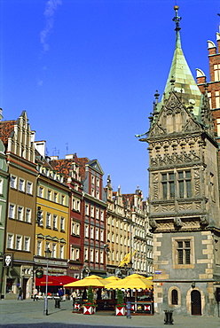 Market Square and Town Hall, Wroclaw (Warsaw), Silesia, Poland