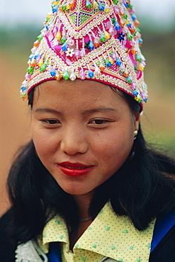 Hmong girl, Luang Prabang, Laos, Asia