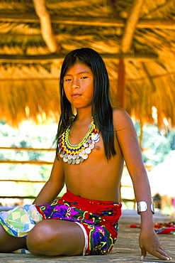 Embera Indian, Chagres National Park, Panama, Central America