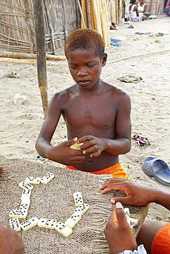 Fishing village of Vezo ethnic group, around Tulear, Ifaty, Madagascar, Africa