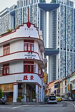 Art deco restaurant Potato Head, Chinatown, Singapore, Southeast Asia, Asia