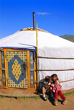 Nomads' encampment, Orkhon Valley, Ovorkhangai, Mongolia