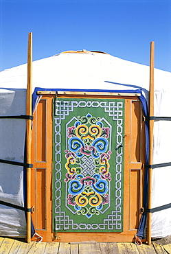 Nomadic camp, Orkhon Valley, Ovorkhangai, Mongolia, Central Asia, Asia