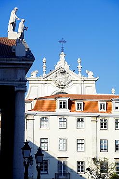 Rossio Square (Praca Dom Pedro IV) and Lisbon Opera House, Lisbon, Portugal, Europe