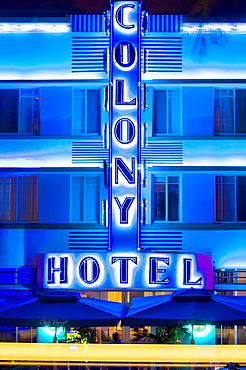 Hotelson Ocean Drive, Art Deco District, South Beach, Miami, Florida, United States of America, North America