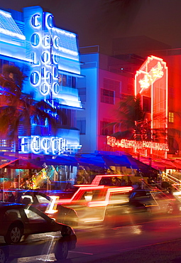 Ocean Drive, Art Deco District, South Beach, Miami, Florida, United States of America, North America