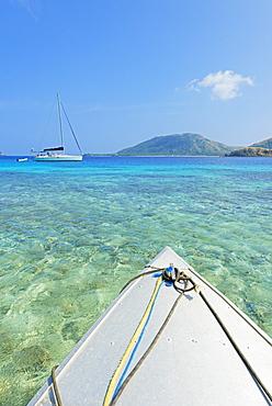 Nautical vessel sailing, Yasawa island, Yasawa island group, Fiji, South Pacific islands, Pacific