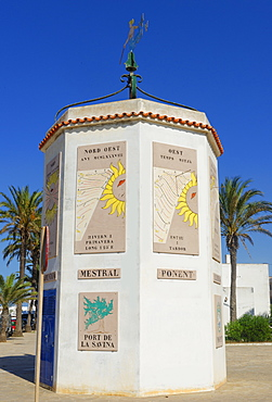 Trade winds monument, Formentera, Balearic Islands, Spain, Mediterranean, Europe