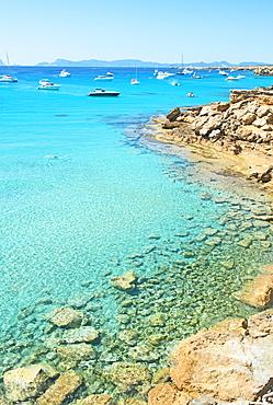 Formentera turquoise waters, Formentera, Balearic Islands, Spain, Mediterranean, Europe