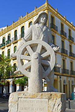 Seafarers monument, Ibiza town, Ibiza, Balearic Islands, Spain, Europe