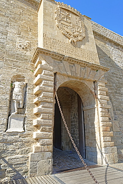 Ses Taules Gate, Old Town (Dalt Vila), UNESCO World Heritage Site, Ibiza town, Ibiza, Balearic Islands, Spain, Europe