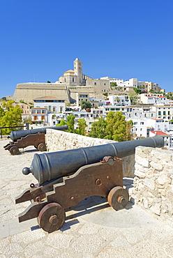 Ibiza Old Town (Dalt Vila) UNESCO World Heritage Site, Ibiza, Balearic Islands, Spain, Europe
