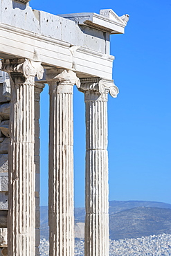 Erechtheion Temple, Acropolis, UNESCO World Heritage Site, Athens, Greece, Europe