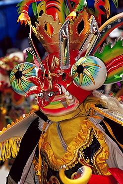 Devil mask, the Devil dance (La Diablada), carnival, Oruro, Bolivia, South America