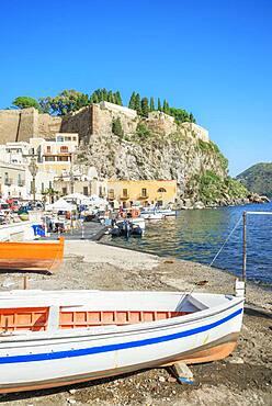 Marina Corta harbour, Lipari Town, Lipari Island, Aeolian Islands, UNESCO World Heritage Site, Sicily, Italy, Mediterranean, Europe