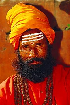 Portrait of a Hindu Sadhu, Pashupatinath, Katmandu, Nepal