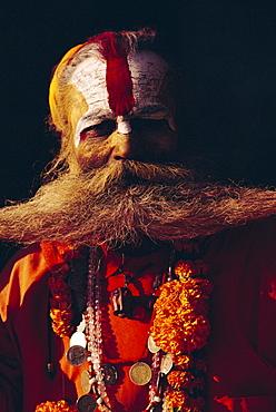 Portrait of an Indian Sadhu, Katmandu, Nepal