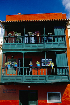 Casa de los Balcones (typical Canarian house with balcony), Santa Cruz de la Palma, La Palma, Canary Islands, Spain, Atlantic, Europe