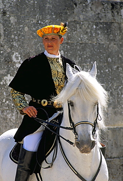 Equestrian show, Chateau of Chambord, Pays de Loire, Loire Valley, France, Europe