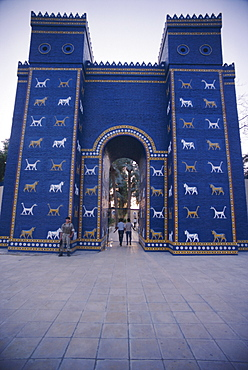 The reconstructed Ishtar Gate, Babylon, Iraq, Middle East