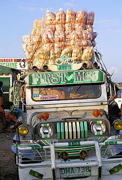 Jeepney, port of Lucena, southern area, island of Luzon, Philippines, Southeast Asia, Asia
