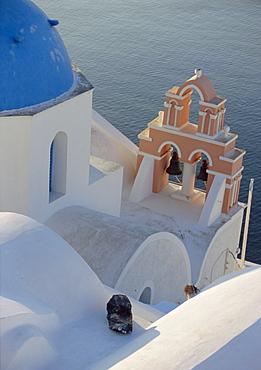 Church, Thira (Fira), Santorini, Cyclades Islands, Greece, Europe