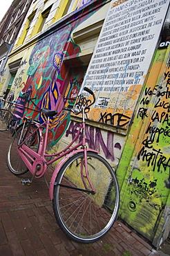 Pink Bike, Amsterdam Holland