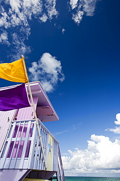 Life Guard Tower, Miami Beach, Florida, United States of America, North America
