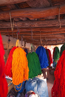 Dyers Souk in the Medina, Marrakech, Morocco, North Africa, Africa