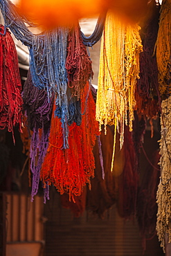Dyers Souk, Marrakech, Morocco, North Africa, Africa