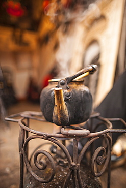 Boiling kettle in the Medina, Marrakesh, Morocco, North Africa, Africa