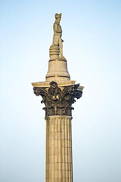 Nelsons Column on Trafalgar Square, London, England, United Kingdom, Europe