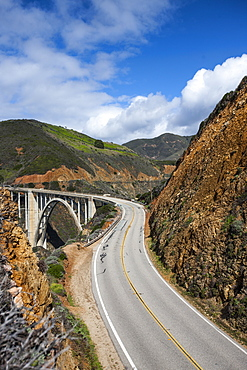 Bixby Bridge, Big Sur, California, United States of America, North America
