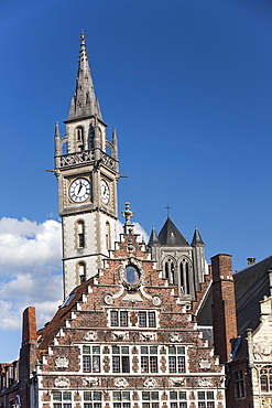 City centre buildings, Ghent, Belgium, Europe