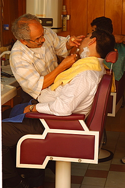 Barber's shop, Istanbul, Turkey, Europe