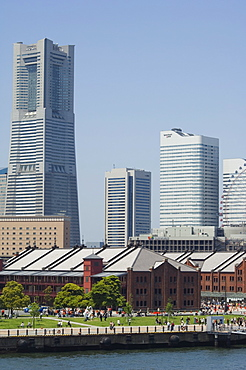 Akarenga red brick warehouses, Minato Mirai, Yokohama, Kanagawa prefecture, Japan, Asia