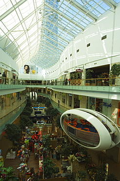 Europa Tower Shopping Complex Modern Interior Design Dining Capsule, Vilnius, Lithuania, Baltic States, Europe