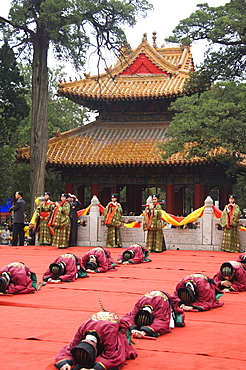 International Confucius Cultural Festival, Qufu City, birthplace of Confucius the great philosopher politician and educator of the 6th to 5th centuries BC, UNESCO World Heritage Site, Shandong Province, China, Asia