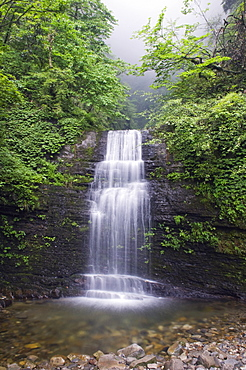 A waterfall at Mount Emei Shan, UNESCO World Heritage Site, Sichuan Province, China, Asia