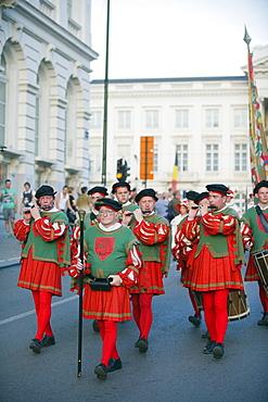 Medieval procession, Brussels, Belgium, Europe