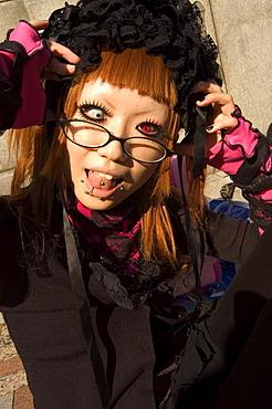 Tokyo subculture, Harajuku, Yoyogi koen park, Tokyo, Honshu, Japan, Asia