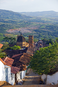 View over Barichara, Colombia, South America