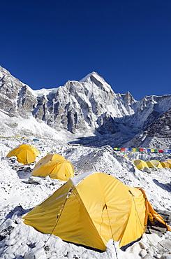 Tents at Everest Base Camp, Solu Khumbu Everest Region, Sagarmatha National Park, UNESCO World Heritage Site, Nepal, Himalayas, Asia