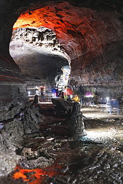 Manjanggul Lava Tube, UNESCO World Heritage Site, Jeju Island, South Korea, Asia